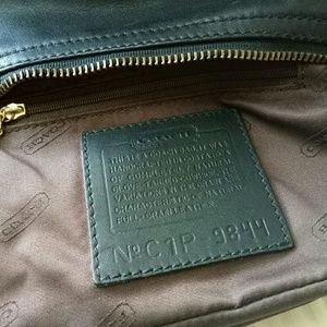 Coach Bags - Coach plain black mini leather hobo bag